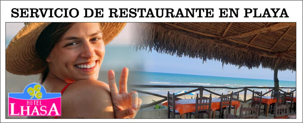 Turistas, alegria, Mar, Playa, Sol, restaurante en Hotel Lhasa Palapas en Playa